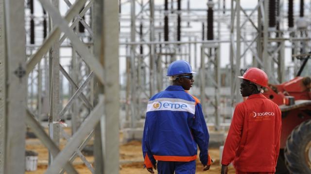 High voltage line in Congo