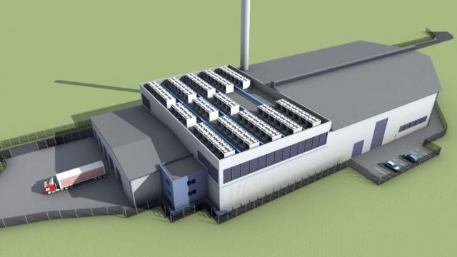 Usine de gazéification biomasse d'Hoddesdon