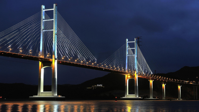 The Masan Bay Bridge