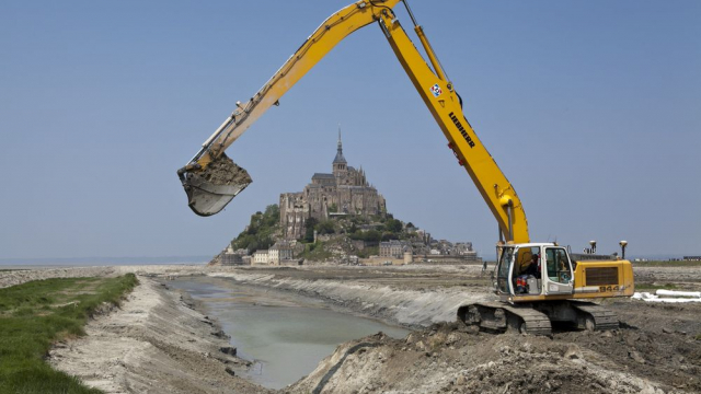 Terrassement Mont Saint-Michel
