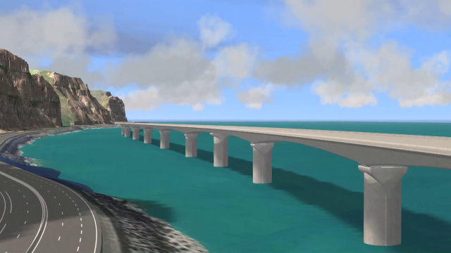 The coastal highway (Saint-Denis)