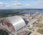 Tchernobyl- Vidéo cinématique de l'enceinte de confinement en forme d'arche