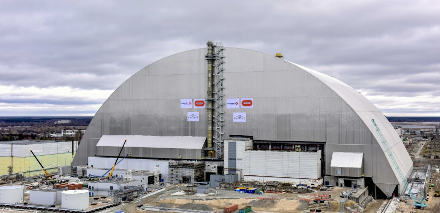 Chernobyl arch has reached resting place