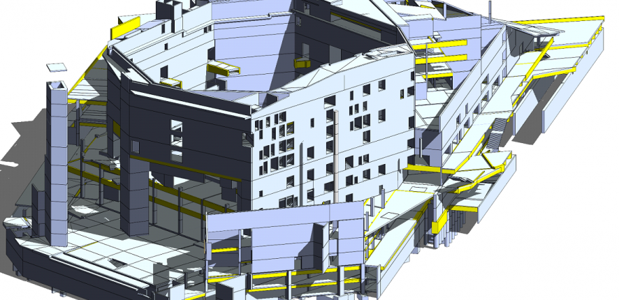 Digital modelling of the Philharmonic Hall in Paris