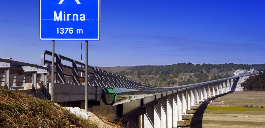 Phase 4 of the Istria motorway ©Bernard Blaise