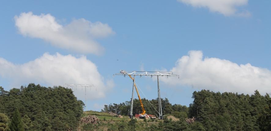 Pose de câble avec drone - Chantier 2Loire Bouygues Construction#2