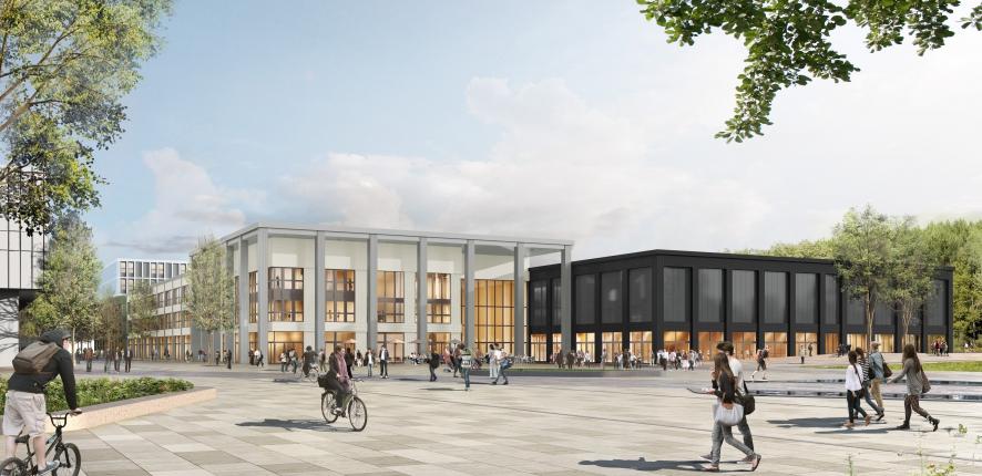 Futur Bâtiment de CentraleSupélec à Paris Saclay