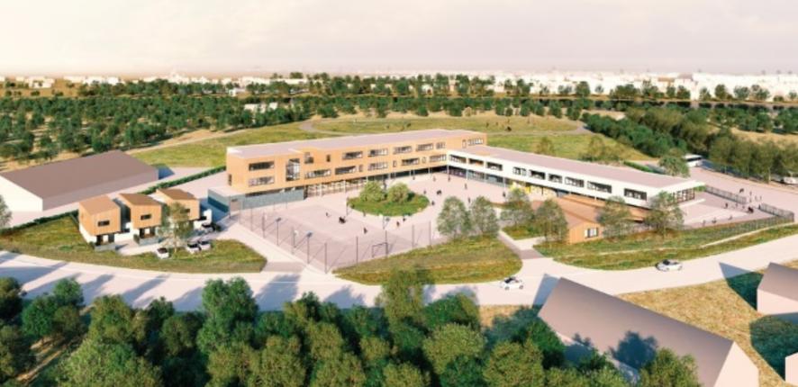 Bouygues construction partenaire du plan coll ge for Garage noyen sur sarthe