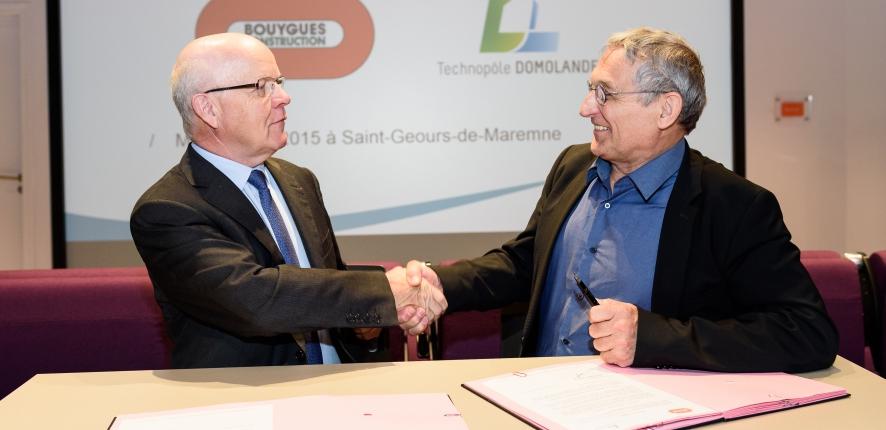 Partenariat Domolandes et Bouygues Construction