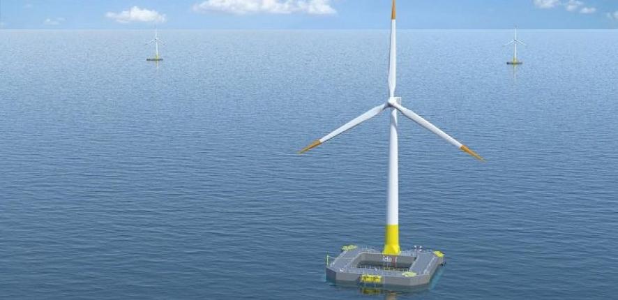 Première éolienne en mer en France