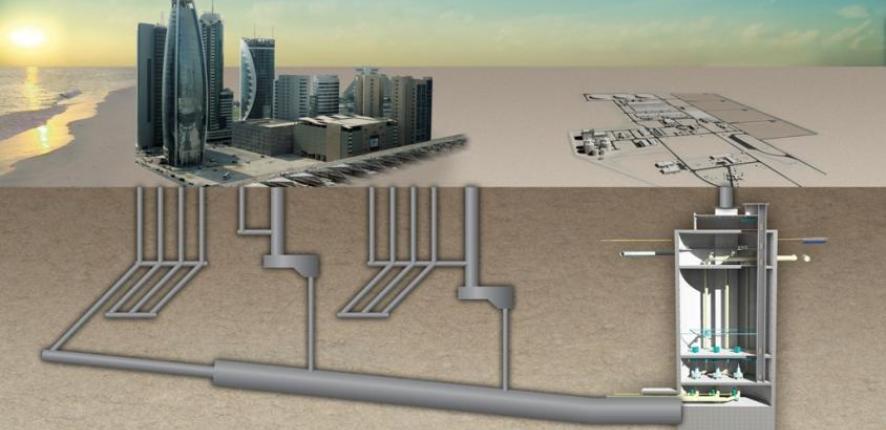 Tunnels d'assainissement au Qatar