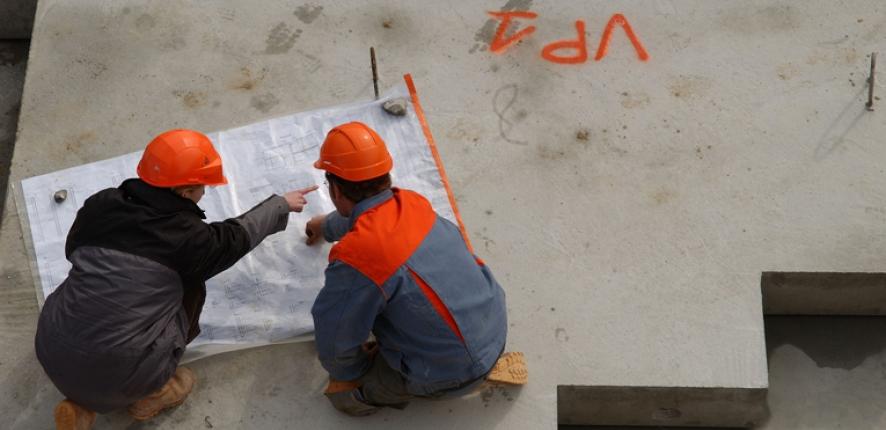 2 collaborateurs sur chantier