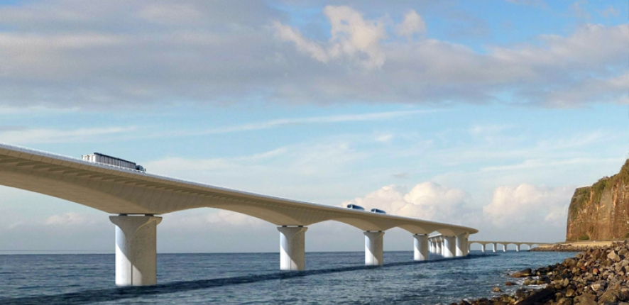 New coastal highway on Reunion Island