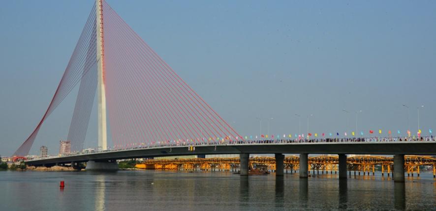 Pont de Tran Thi Ly à Da Nang, Viet Nam