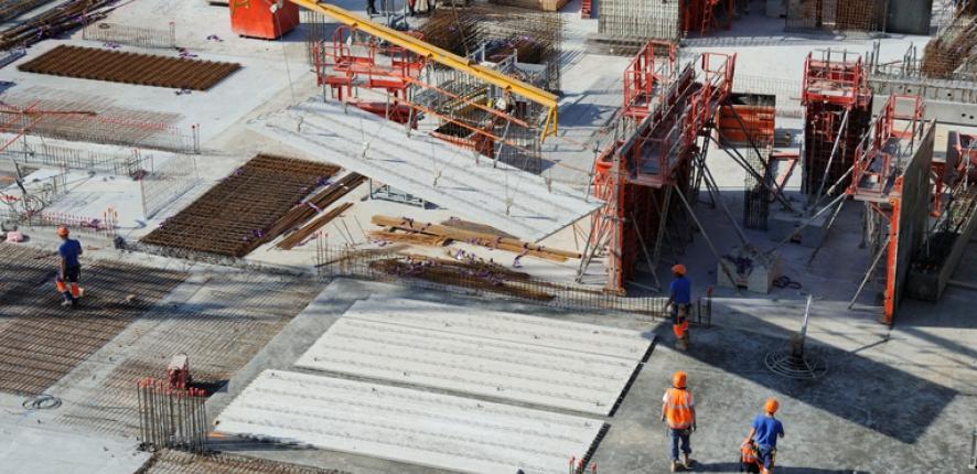 Vue aérienne de chantier