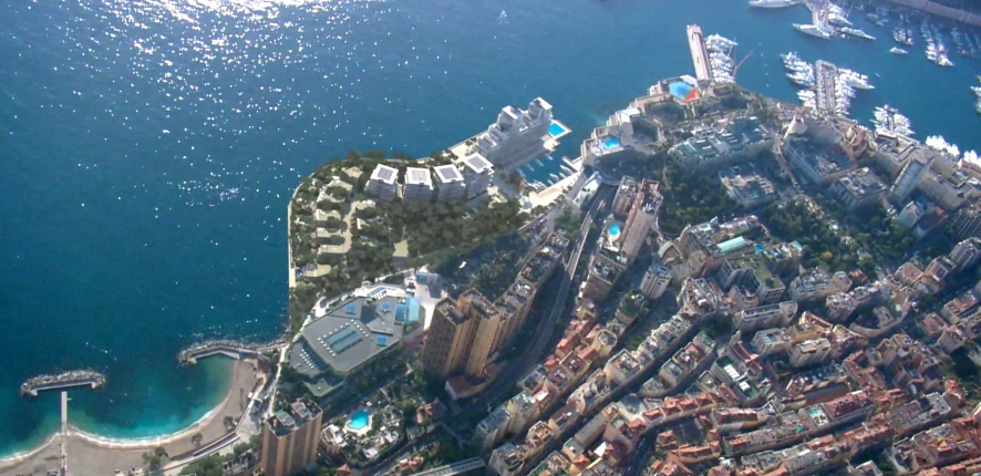 Extension en mer de Monaco