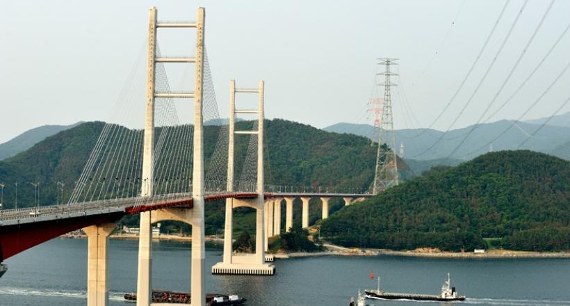 Pont de Massan Bay en Corée du Sud