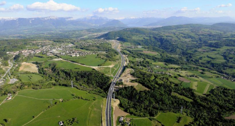 L'autoroute A41 entre Annecy et Genève