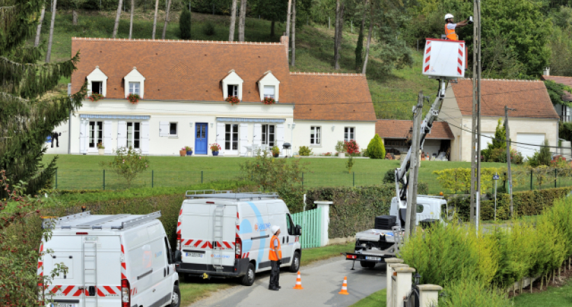 The Fibre To The Home Network in the Oise department
