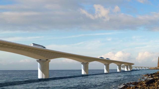 Lancement de la Nouvelle Route du Littoral de l'île de la Réunion incluant le plus long viaduc en mer de France