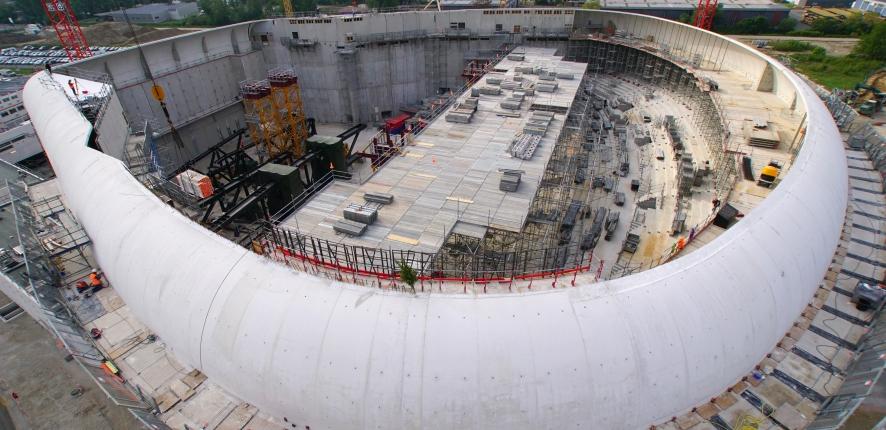Bordeaux Métropole Aréna en construction