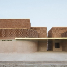 Opening of Yves Saint Laurent Museum in Marrakech, a haute couture building