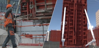Virtual reality on construction site
