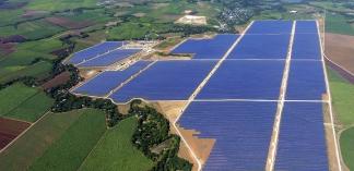 Solar farm on Negros, Philippines